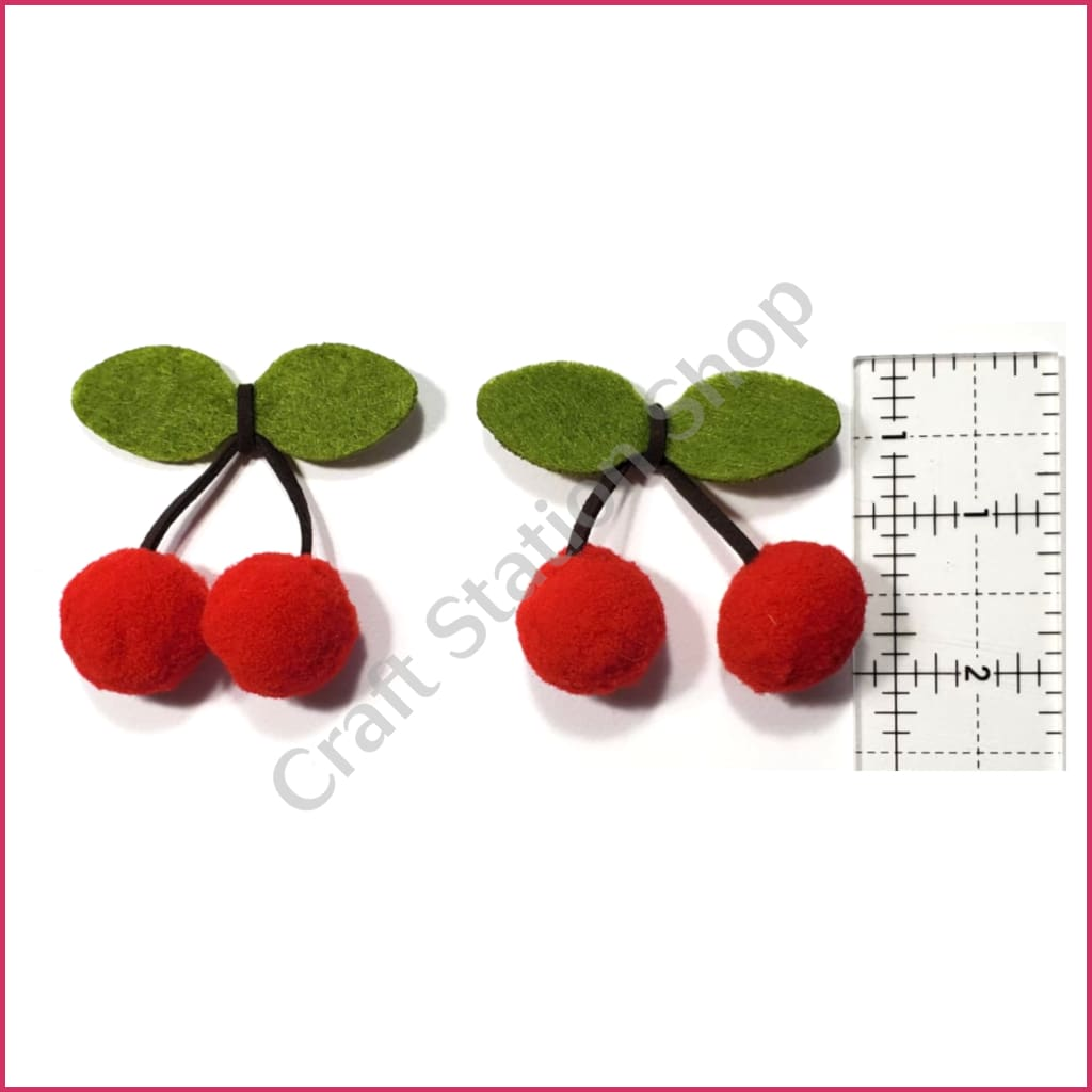 Felt 02 cherries / cerezas - Craft Station Shop