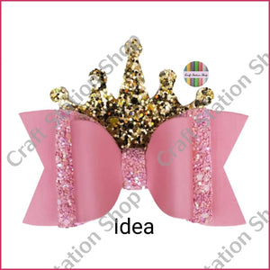 Flat Back 55 Non Woven Crown Glitter