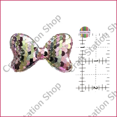 Flat Back 84 Sequin Bow - Multicolor