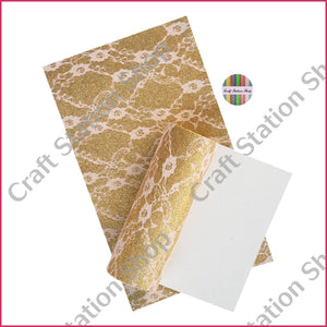 Glitter Lace - Gold/lt. Pink