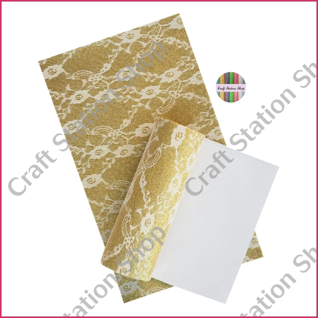 Glitter Lace - Gold/white