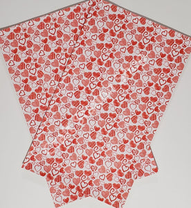 Hearts 09 Faux Leather Single Sheet - Craft Station Shop
