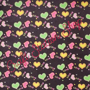 Hearts 05 Faux Leather Single Sheet - Craft Station Shop