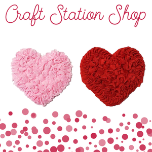 Shabby Heart Applique - Craft Station Shop
