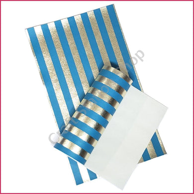 Light gold & color Stripes 05 Blue - Craft Station Shop