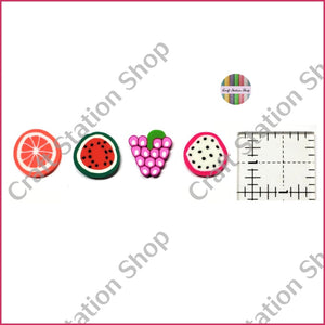 Resin 119 Fruits/ Frutas - Craft Station Shop