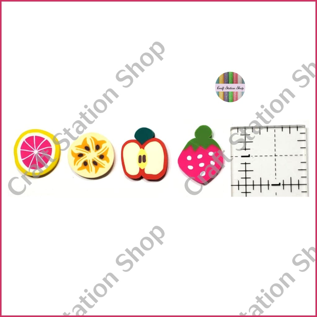 Resin 123 Fruits/ Frutas 03 - Craft Station Shop