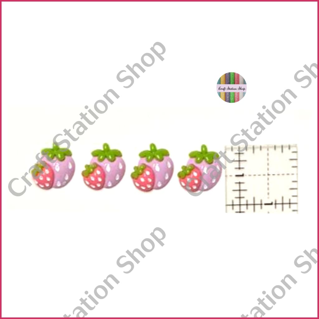 Resin 142 Strawberry lilac-hot pink / Fresas lila y rosa subido - Craft Station Shop
