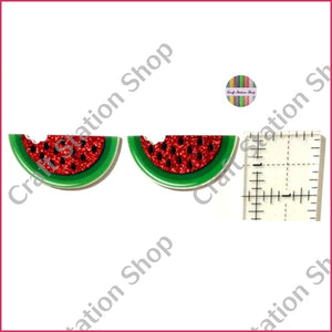 Resin 168  Watermelon  - glitter / Melón escarchado - Craft Station Shop