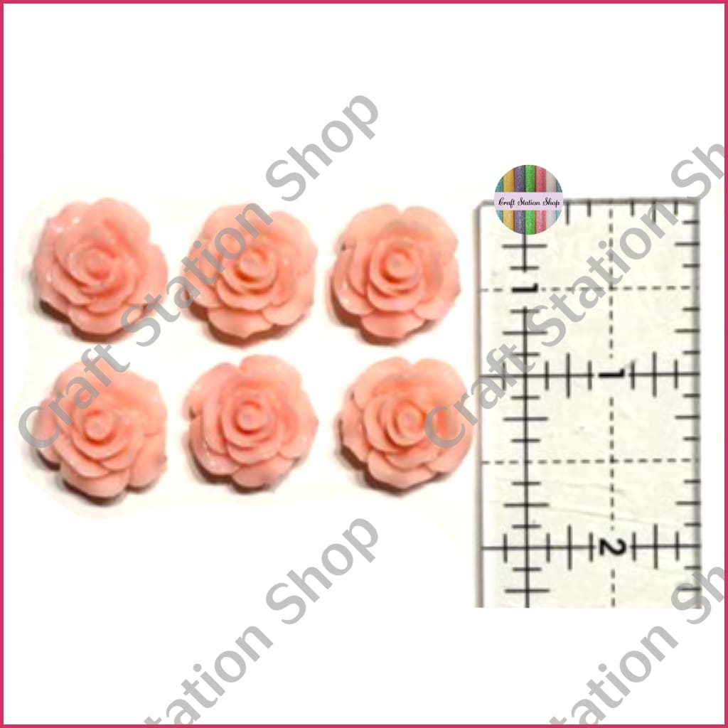 Resin 224 Peach Flowers / Flores peach - Craft Station Shop