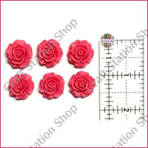 Resin 226 Medium Rose Flowers / Flores Rosa Medio - Craft Station Shop