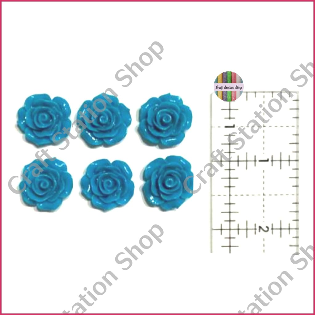 Resin 227 Teal Flowers / Flores Teal - Craft Station Shop