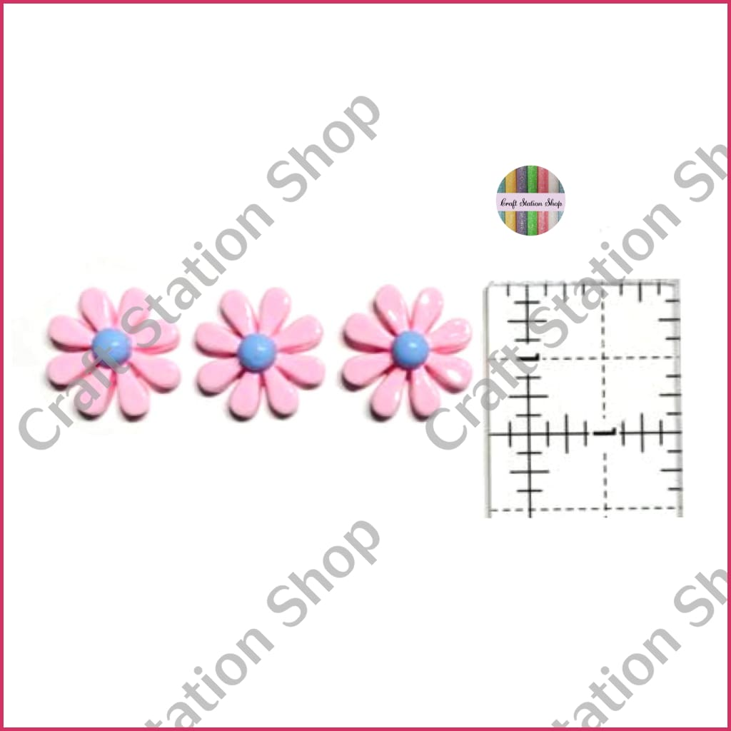 Resin 231 Pink Daisy Flower - Craft Station Shop