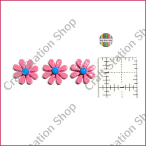 Resin 234 Hot Pink Daisy Flower - Craft Station Shop