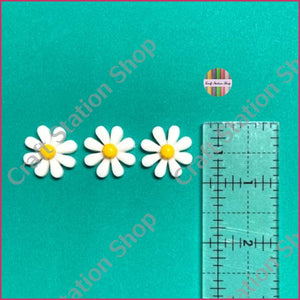 Resin 235 White Daisy Flower - Craft Station Shop