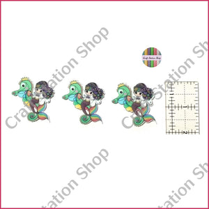 Resin 63 seahorse and mermaid - Craft Station Shop