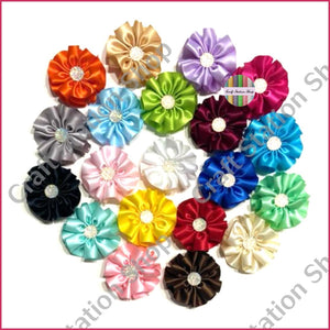 Satin Small Flowers 01 / Flores Satinadas Pequeñas 01 - Craft Station Shop