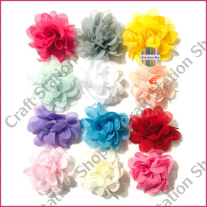 Small Chiffon Flowers  / Flores de Gasa pequeñas - Craft Station Shop