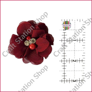 Small Flower With Rhinestone And Pearl