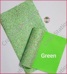 Soft Chunky Glitter Sequin Faux Leather - Craft Station Shop