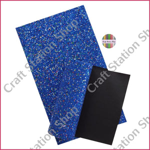 Soft Glitter Star 04 Royal Bue / Azul Faux Leather