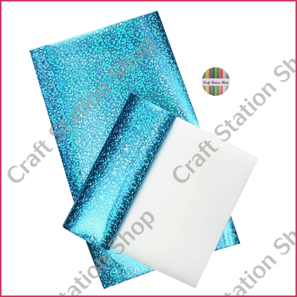 Swiss Metallic Dots Soft 01- Med Blue Faux Leather