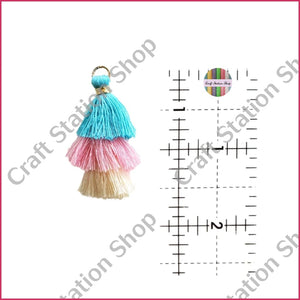 Tassel Accesory Teal/pink/ivory