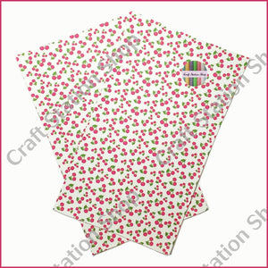 Tropical 57 Faux Leather Sheet Cherries / Cereza