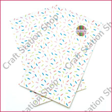 Load image into Gallery viewer, Tropical 68 Faux Leather Sheet Big Sprinkles