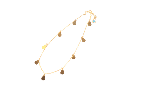 Gold Teardrop Anklet