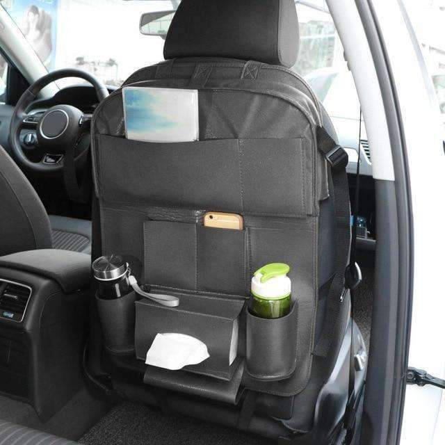 Home - Car Back Seat Hanging Organizer With Folding Shelf And Ipad Holder