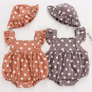 Dot Dot Romper and Hat Set