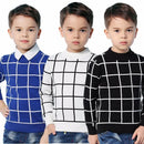 Grid Marks Knitted Sweater