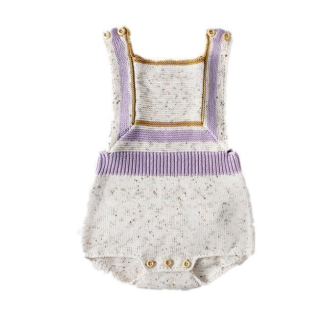 Romper - Lavender Fields Knitted Romper