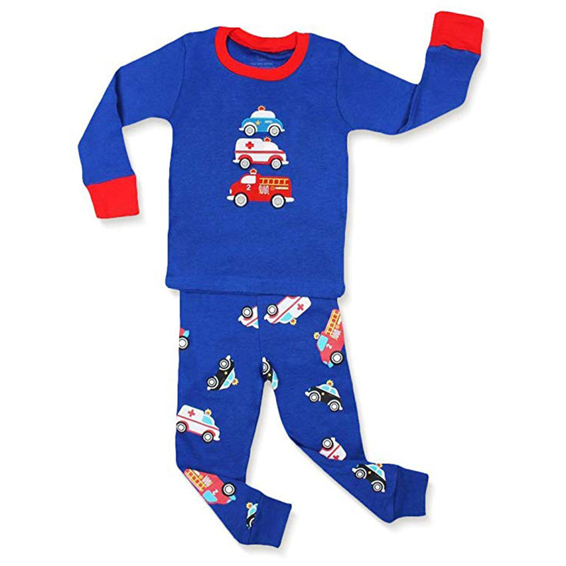 Emergency Vehicles Boy's  2 Piece Pyjamas Set Cotton