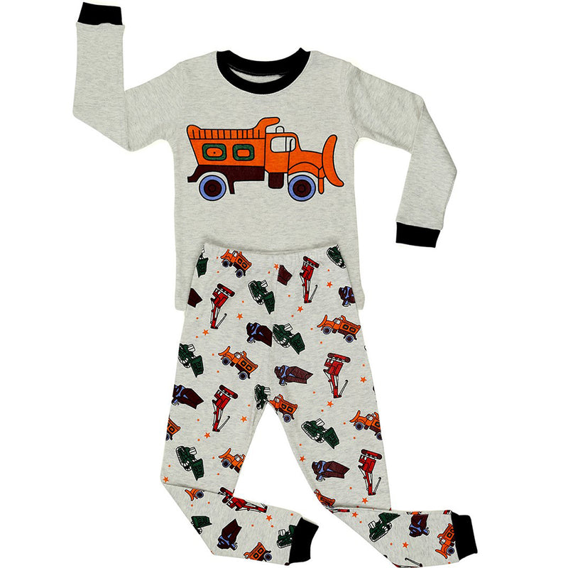 Sand Truck Boy's  2 Piece Pyjamas Set Cotton