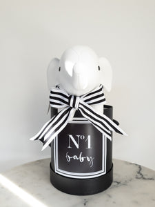 Black & White No 1 Baby Label Size Small Colour Black