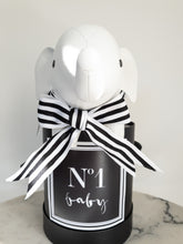 Load image into Gallery viewer, Black & White No 1 Baby Label Size Small Colour Black
