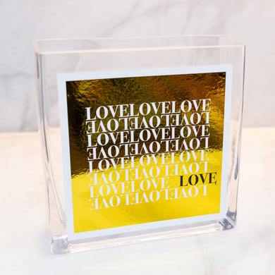 LOVE COLLECTION VASE - Metallic Gold Love