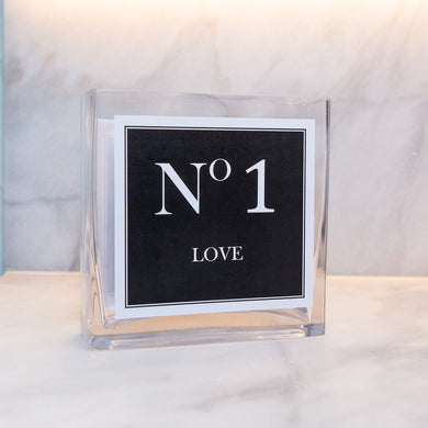 LOVE COLLECTION VASE - Black & White No 1 Love