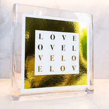 Load image into Gallery viewer, LOVE COLLECTION VASE- White with metallic gold border