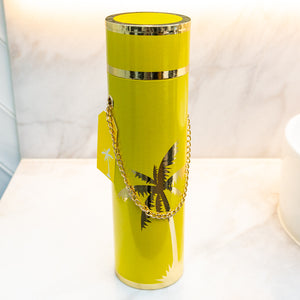 LUXE WINE BOX COLLECTION -  The Millie Yellow with Gold Palm