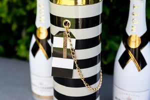 LUXE WINE BOX COLLECTION - The Rebecca Black & white Striped