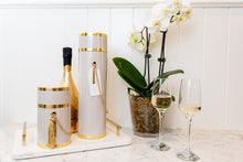 Load image into Gallery viewer, LUXE WINE BOX COLLECTION - The Burtie White & Gold Piccolo