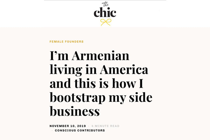 I'm Armenian living in America and this is how I bootstrap my side business