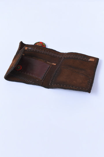 Leather Wallet dark brown - MIRAYJEWELRY