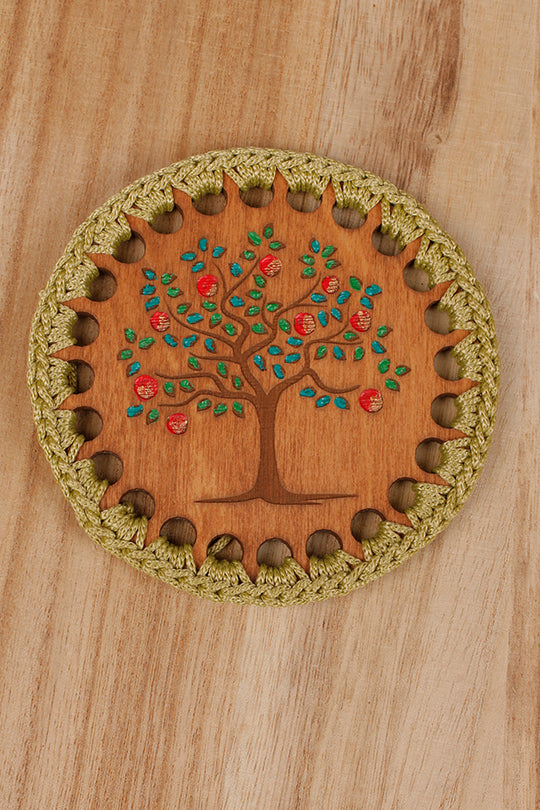 Tree drink coaster