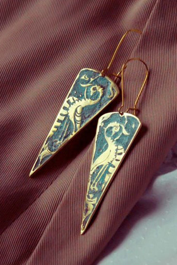 Triangular Earrings - MIRAYJEWELRY