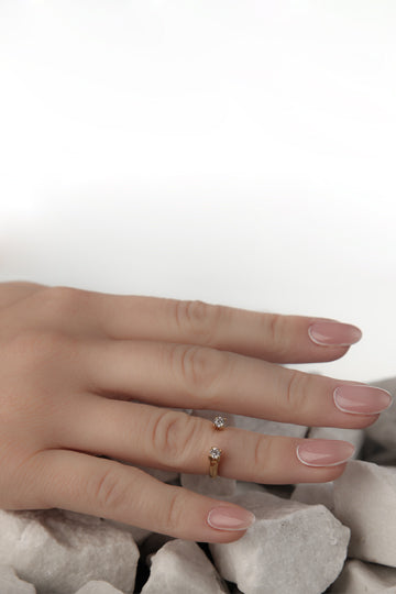 Ring with Two Stones - MIRAYJEWELRY