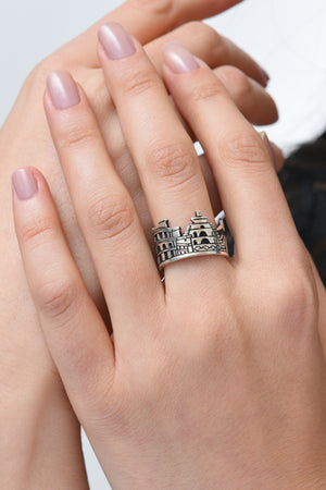 Sterling Silver Monument Ring Mayr Hayastan - MIRAYJEWELRY